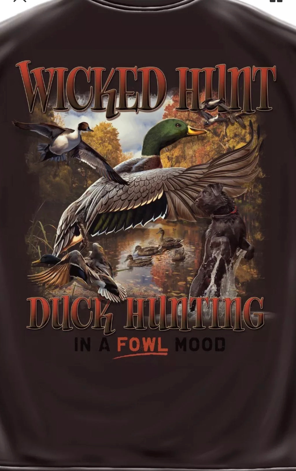 Duck Hunting. In A Fowl Mood T Shirt - The Wall Kids, Inc.