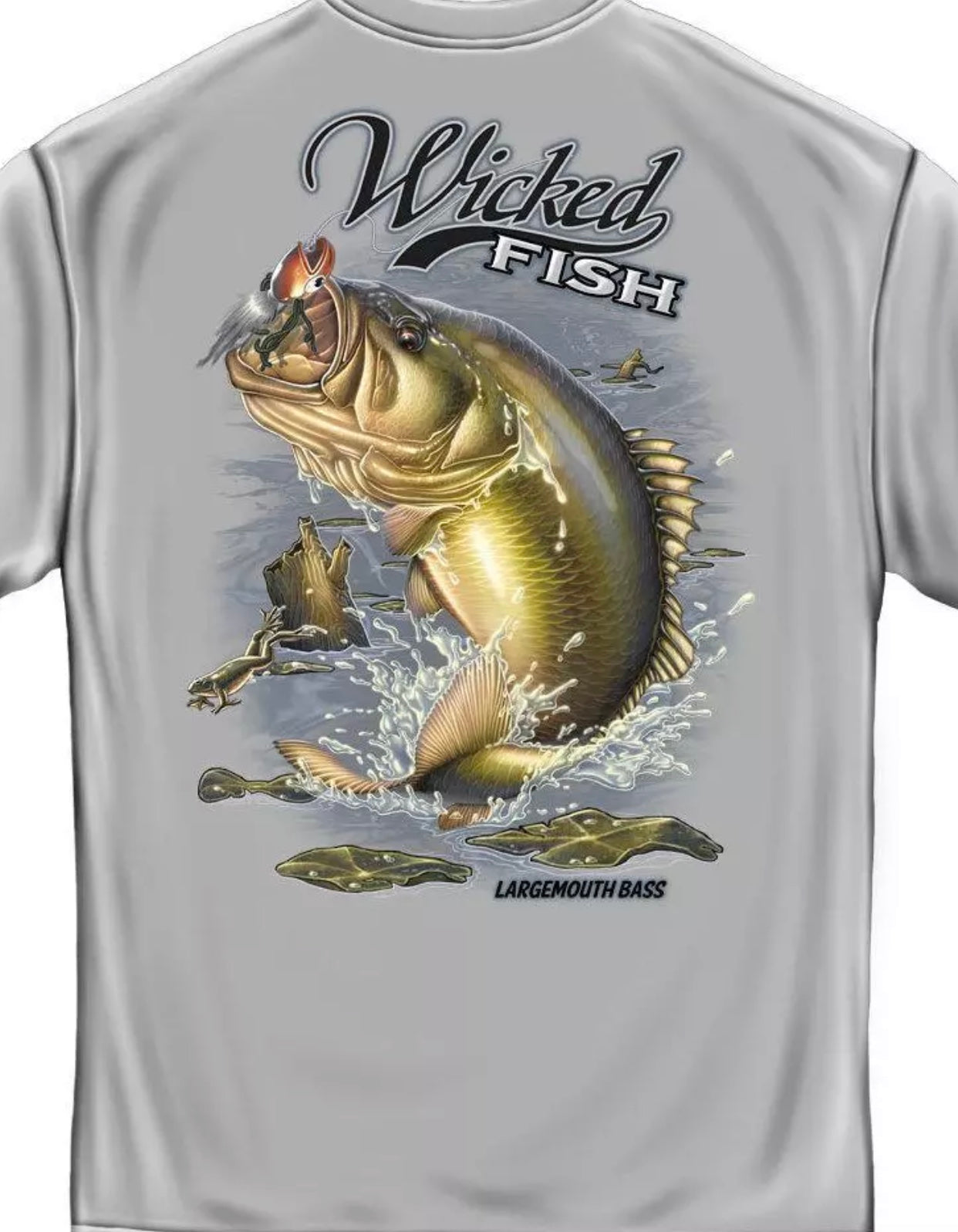 Large Mouth Bass Fishing T-Shirt - The Wall Kids, Inc.