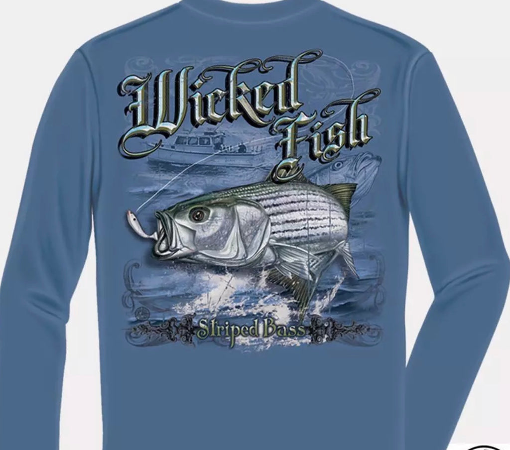 Stripe Bass Long Sleeve T Shirt - The Wall Kids, Inc.