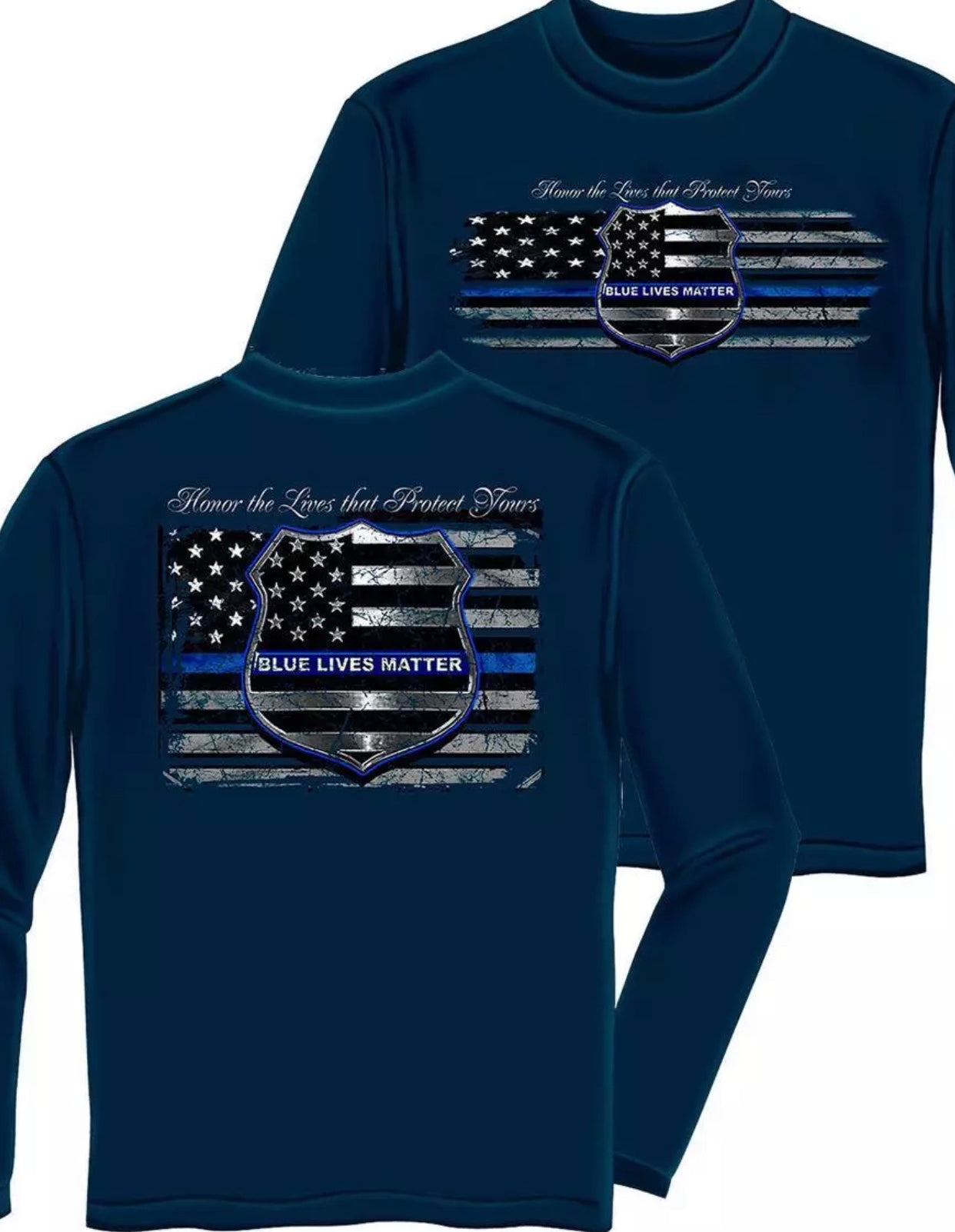 Blue Lives Matter Long Sleeve T-Shirts - The Wall Kids, Inc.