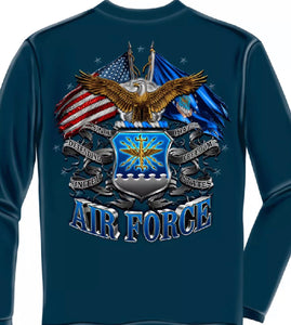 Airforce 2 Flag long Sleeve T-Shirt - The Wall Kids, Inc.
