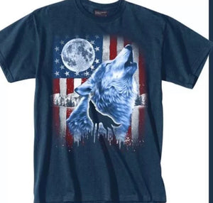 Wolf American T Shirt - The Wall Kids, Inc.