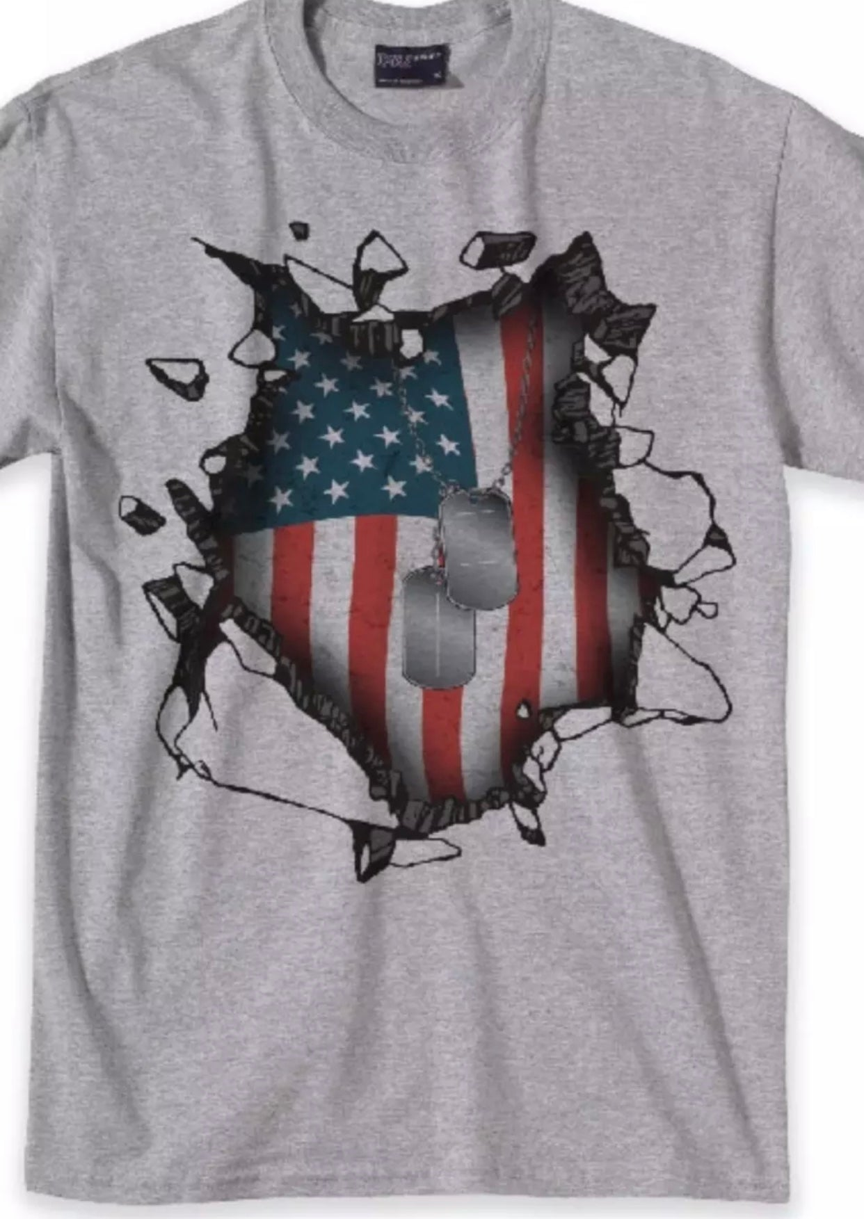 Dog Tag American T Shirt - The Wall Kids, Inc.