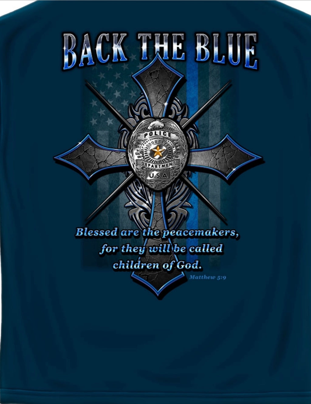 Back The Blue T Shirt - The Wall Kids, Inc.