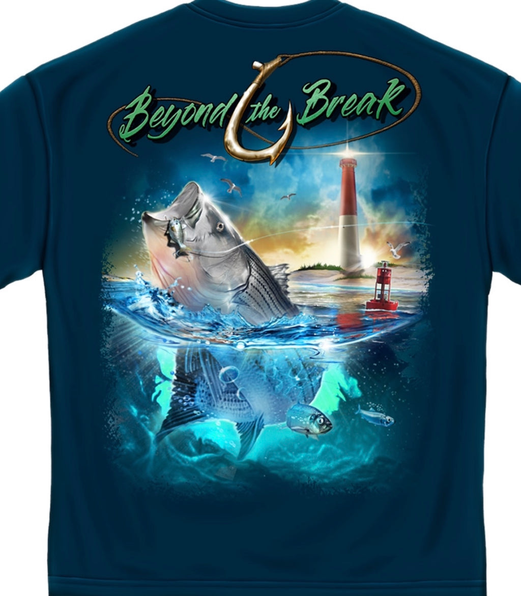 Beyond The Break Striper Fishing T Shirt - The Wall Kids, Inc.