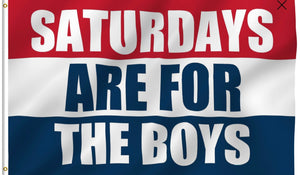 Saturdays Are For The Boys 3x5 Flags - The Wall Kids, Inc.