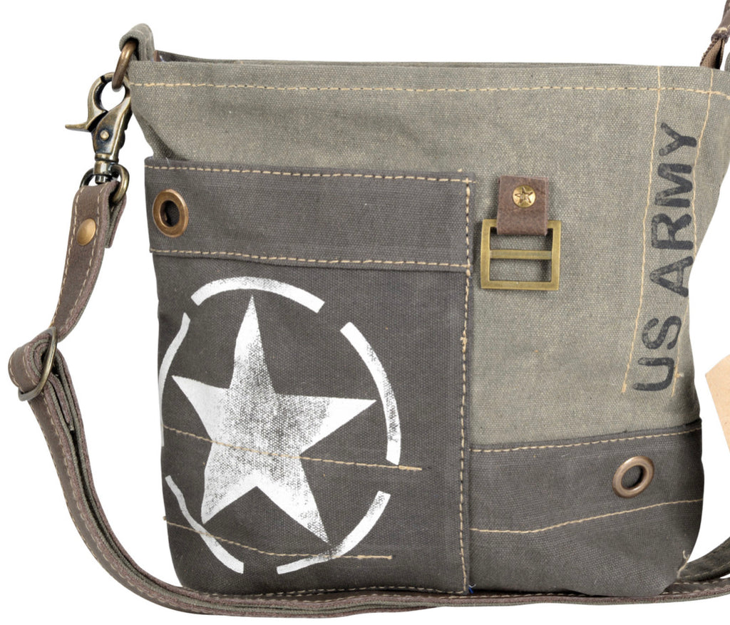 US ARMY SHOULDER/ CROSSBODY CANVAS BAG - The Wall Kids, Inc.