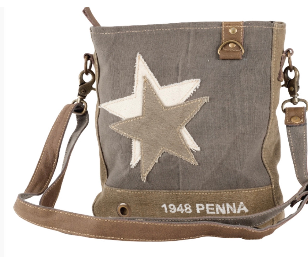 1948 PENNA DOUBLE STAR CROSSBODY CANVAS BAG - The Wall Kids, Inc.