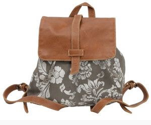 FLOWER AND LEATHER BACKPACK - The Wall Kids, Inc.