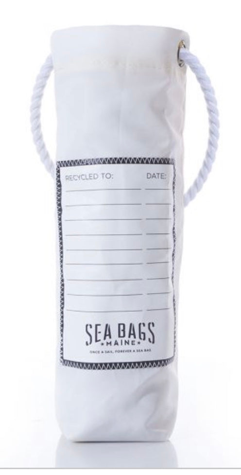 SEA BAGS NAVY WHALE TALE WINE BAG - The Wall Kids, Inc.