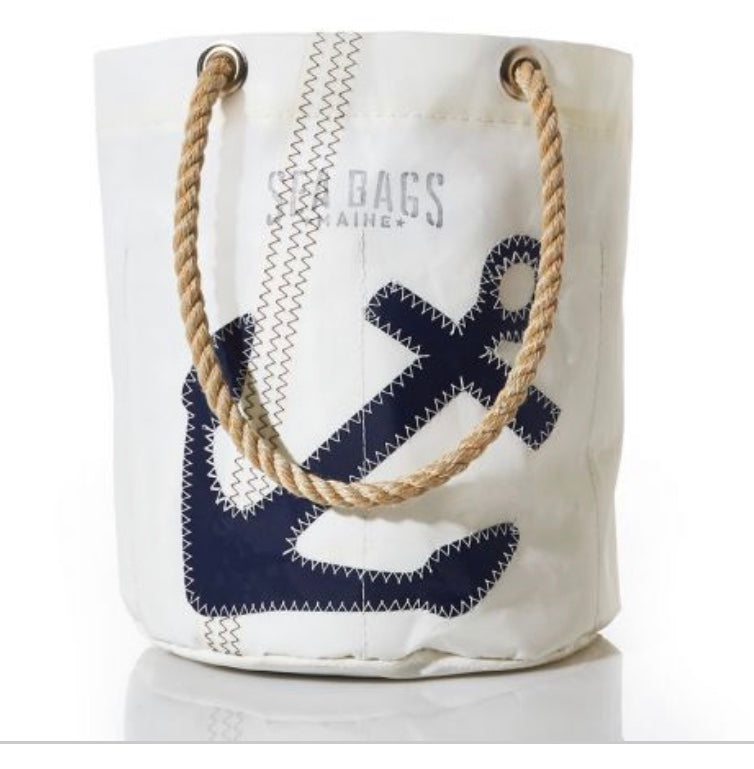 NAVY ANCHOR BEVERAGE BAG - The Wall Kids, Inc.