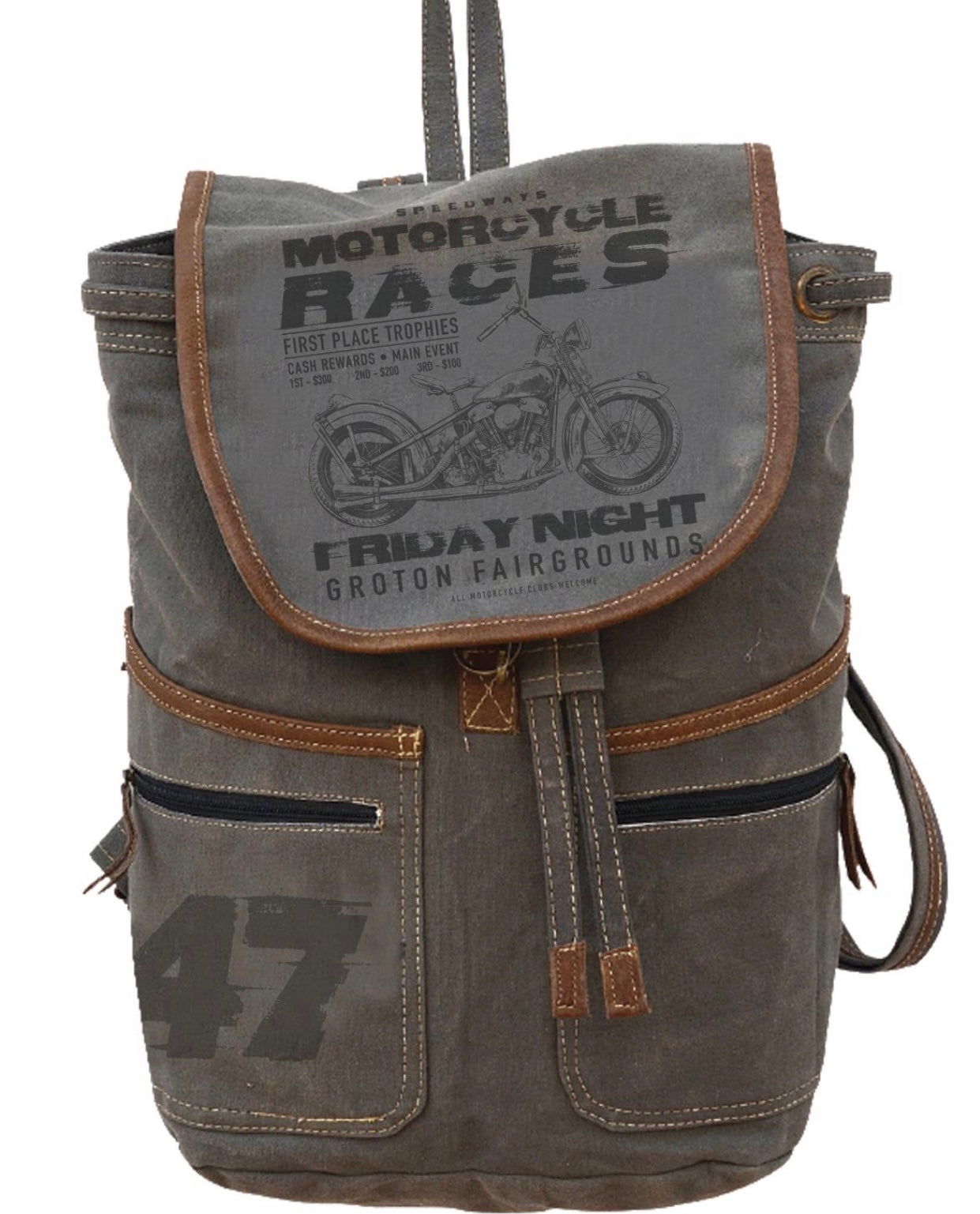 MOTORCYCLE RACES BACKPACK - The Wall Kids, Inc.