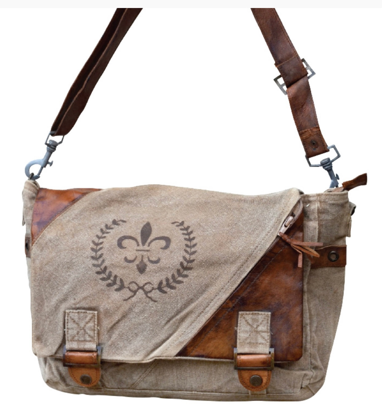 FLEUR DE LIS MESSENGER BAG - The Wall Kids, Inc.