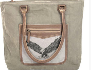 EAGLE TOTE WITH LEATHER TRIM - The Wall Kids, Inc.