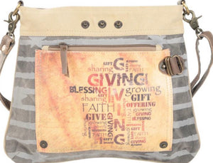 GIVING BLESSING GROWING DOUBLE ZIPPER SHOULDER BAG - The Wall Kids, Inc.