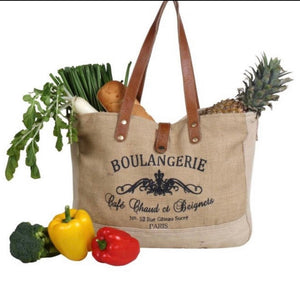 CAFE PARIS RECYCLED MARKET GROCERY BAG - The Wall Kids, Inc.