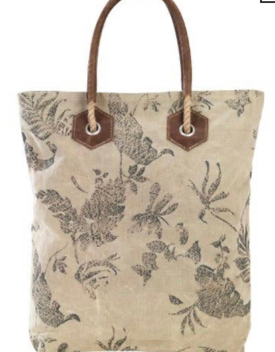 DRAGONFLY RECYCLED CANVAS TOTE BAG - The Wall Kids, Inc.
