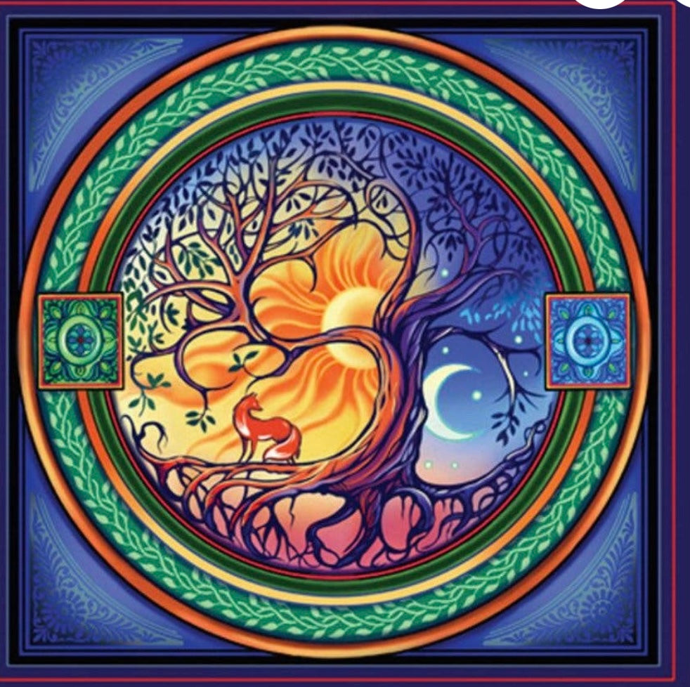 TREE OF LIFE BANNER SPIRTUAL MEDITATION YOGA LOVE PEACE STRENGTH WISDOM - The Wall Kids, Inc.