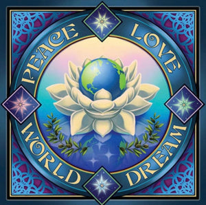 PEACE LOVE WORLD DREAM BANNER YOGA MEDITATION SPIRTUAL - The Wall Kids, Inc.