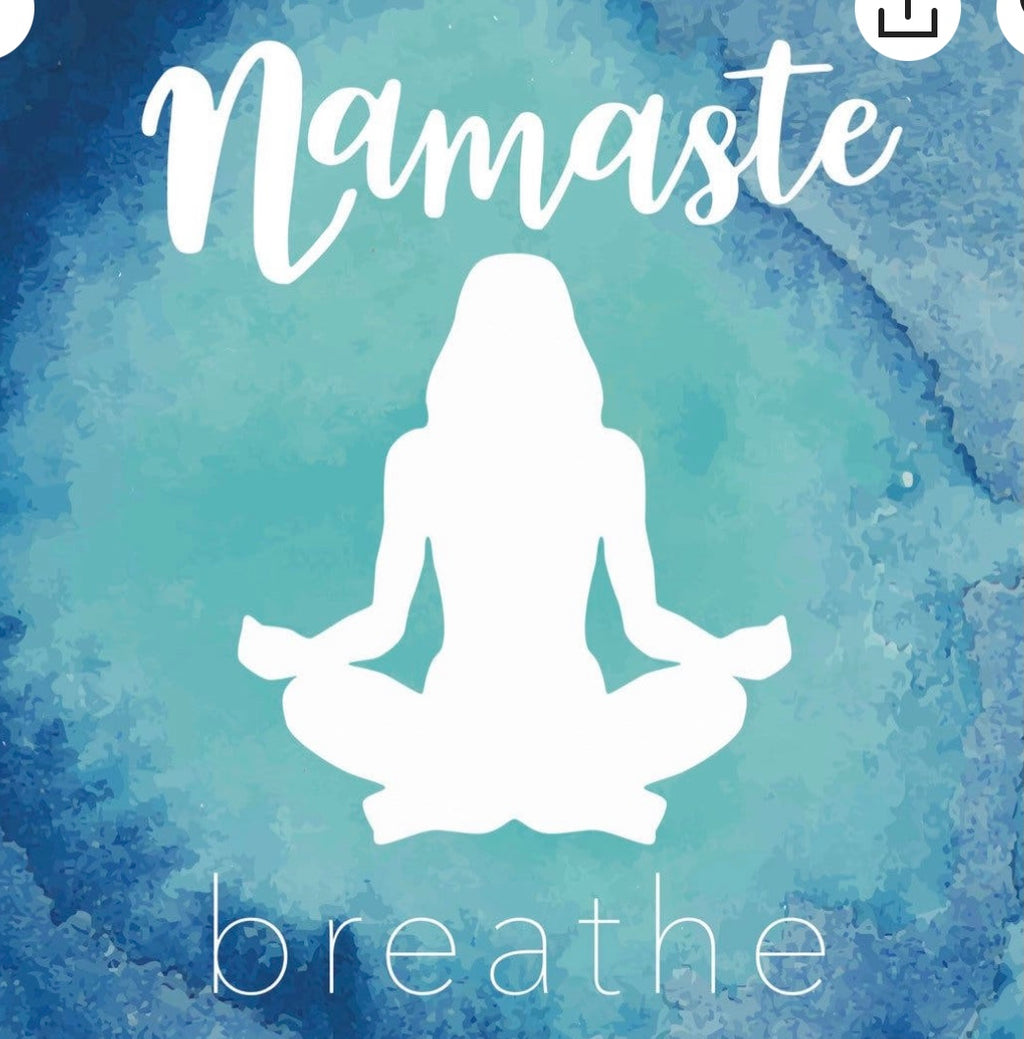 NAMASTE WALL BANNER. BREATHE MEDIATION YOGA INSPERATIONAL DECOR - The Wall Kids, Inc.