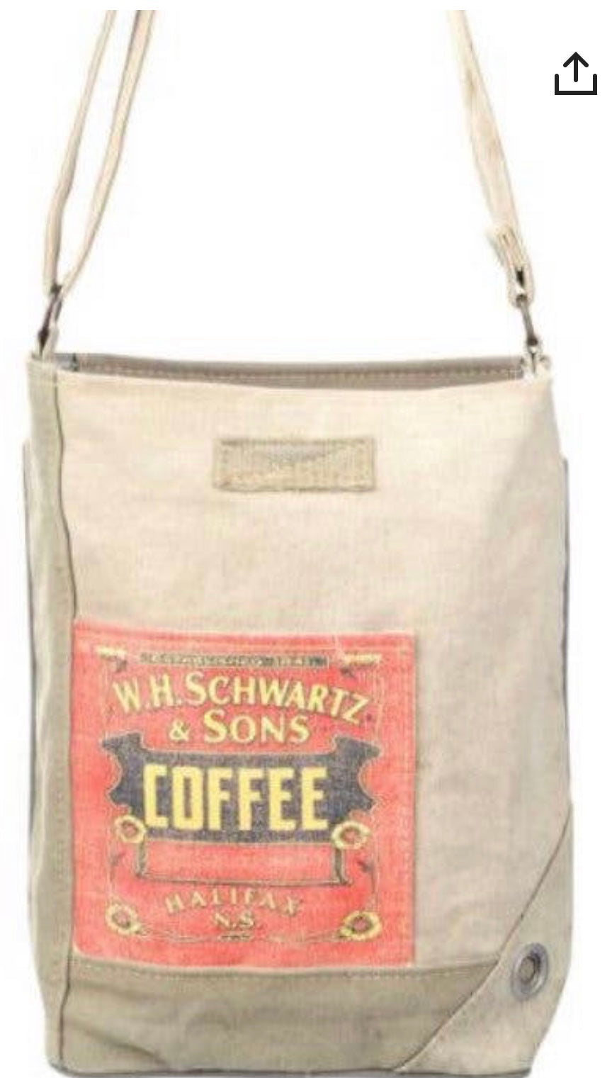 COFFEE LOVERS CANVAS TENT CROSSBODY BAG - The Wall Kids, Inc.
