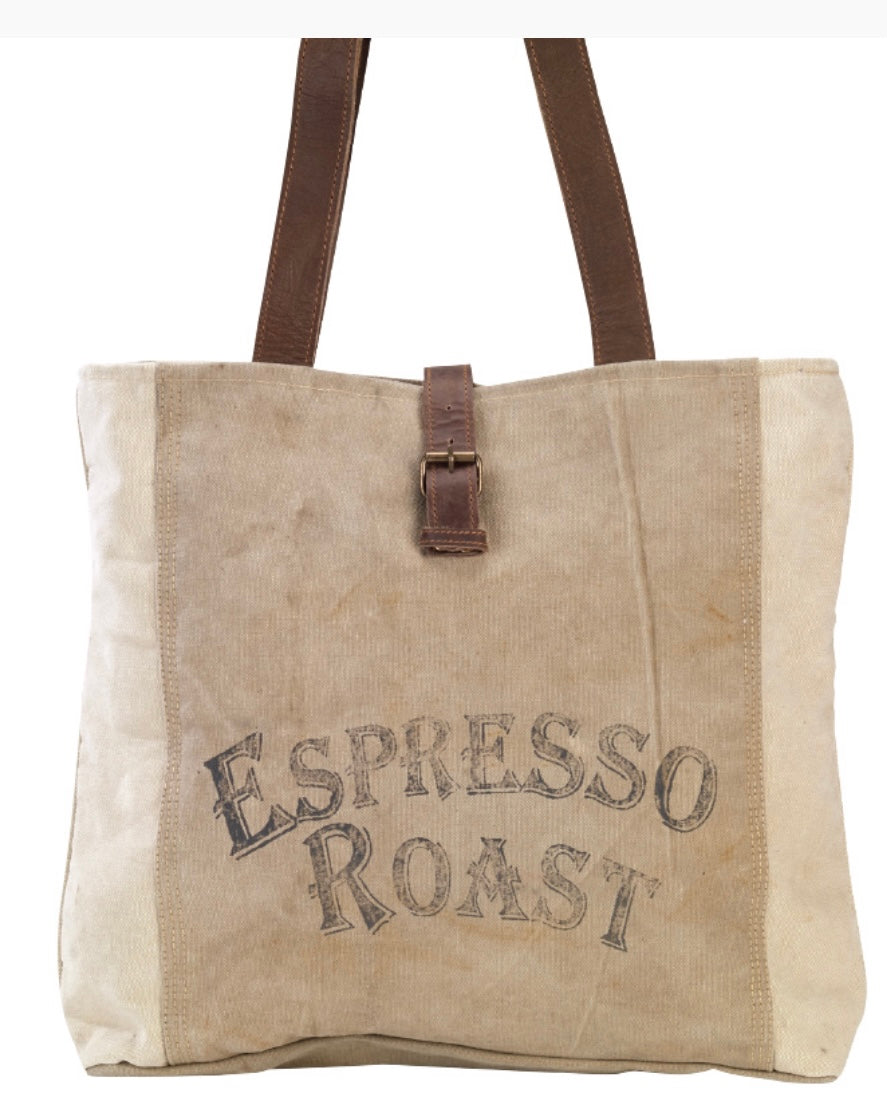 ESPRESSO ROAST SHOULDER TOTE - The Wall Kids, Inc.