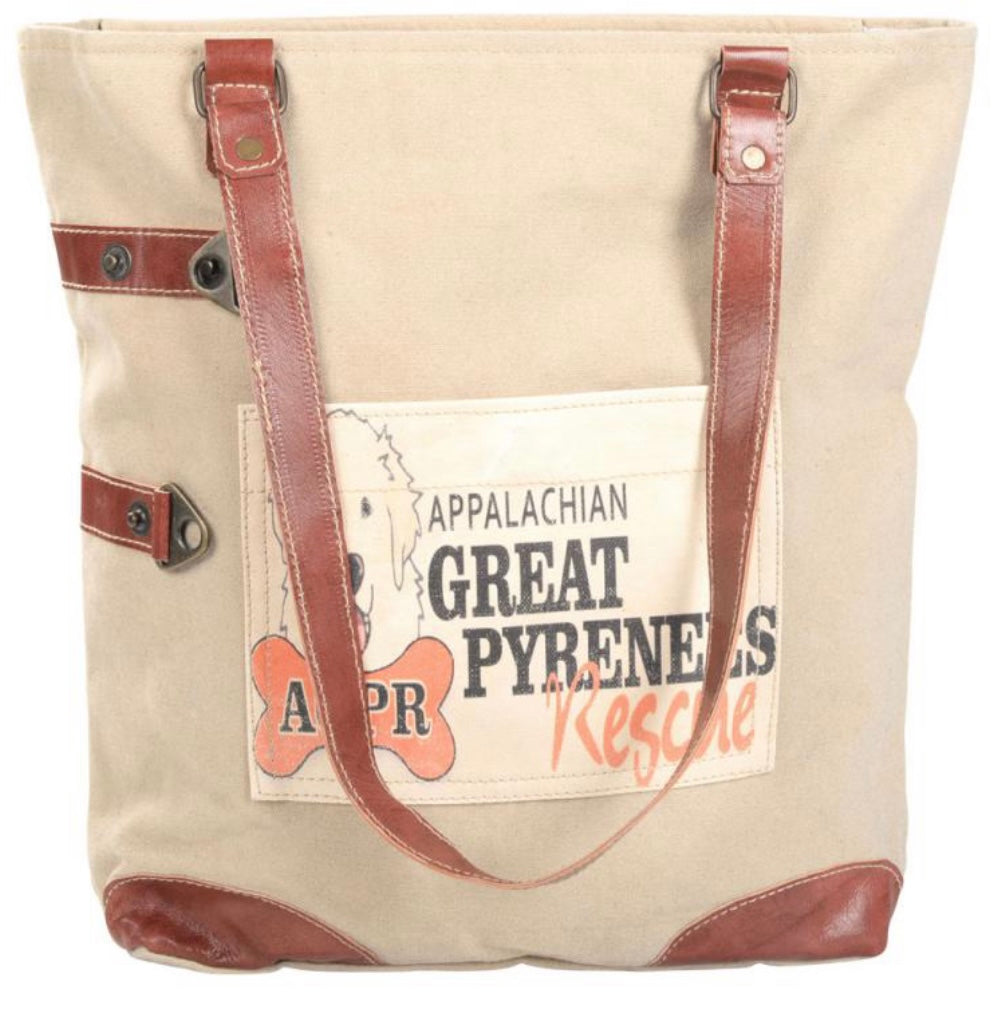 GREAT PYRENEES RESCUE FRONT POCKET TOTE - The Wall Kids, Inc.