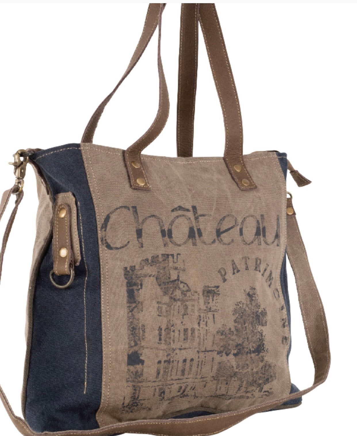 CHATEAU SHOULDER TOTE WITH STRAP - The Wall Kids, Inc.