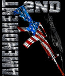 Second Amendment Red White Blue Blanket 50 X 60 fleece blanket.  - The Wall Kids, Inc.