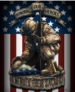 Honor Our Heros 50X 60 Fleece Blanket - The Wall Kids, Inc.