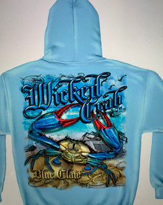 Blue Claw Crab Sweatshirts - The Wall Kids, Inc.