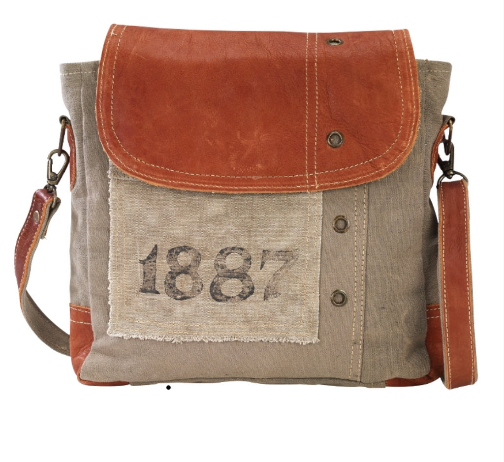1887 Shoulder Tote made from Re-Purposed Military Tents
