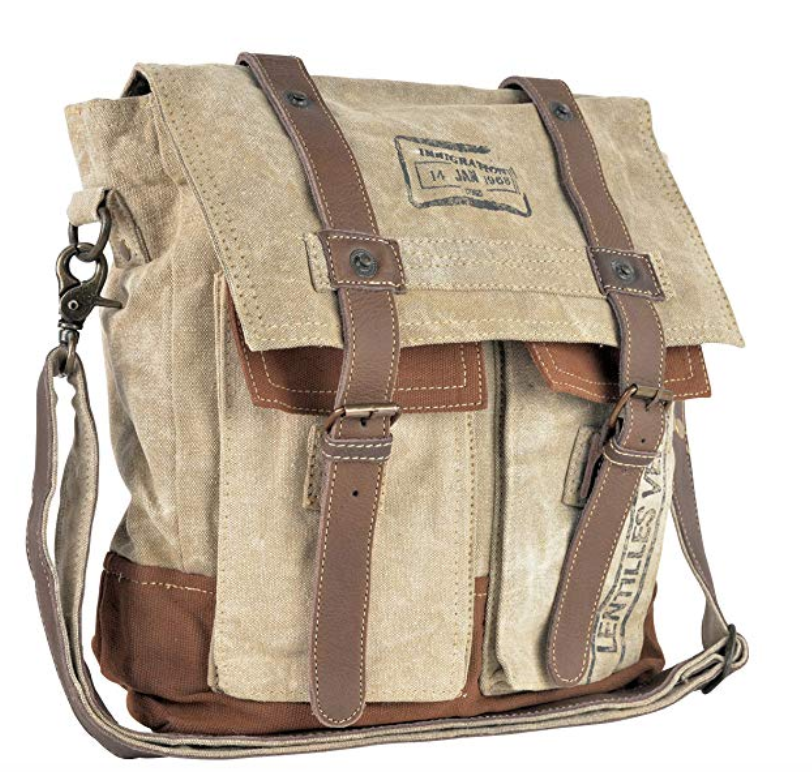 LENTILLES MESSENGER BAG made from Military Tent Canvas - The Wall Kids, Inc.