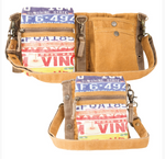 License Plate 3-Way Crossbody Shoulder Bag Festival Belt - The Wall Kids, Inc.