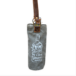 Love The Wine Your With Wine Carry Bag made from Re-Purposed Military Tents - The Wall Kids, Inc.