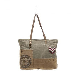 MILITARY BADGE CANVAS TOTE BAG - The Wall Kids, Inc.