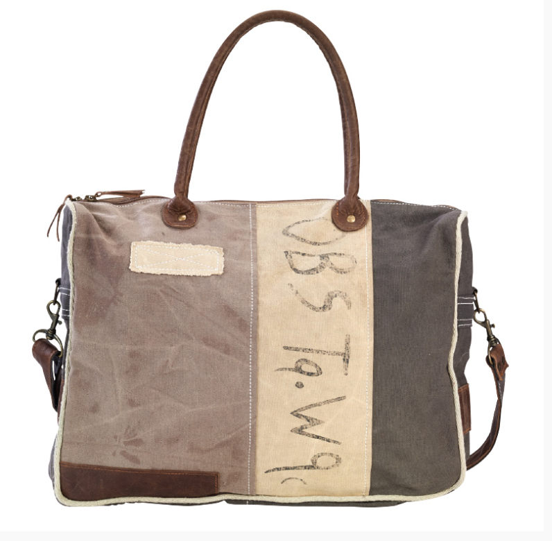 OBS Tote With Strap made from Re-Purposed Military Tents - The Wall Kids, Inc.
