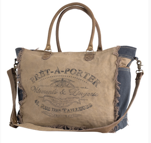 Pret-A-Porter Duffle Bag made from Re-Purposed Military Tents