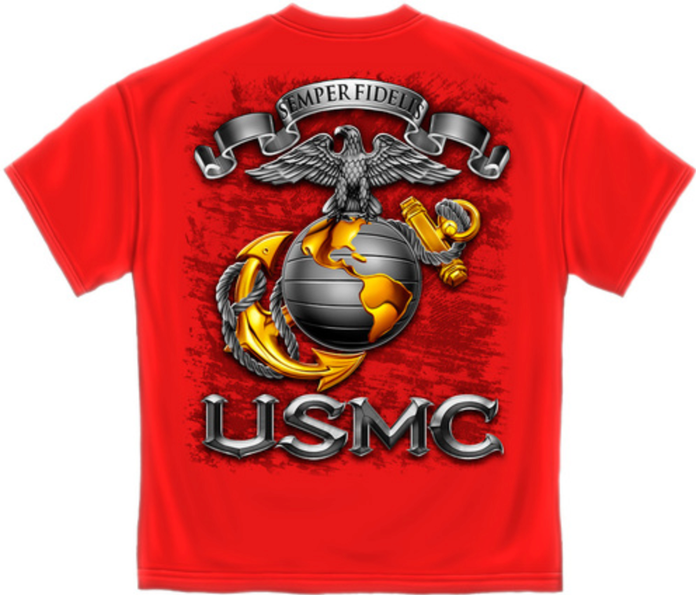 Marine Red T-Shirt Sempre Fi - The Wall Kids, Inc.