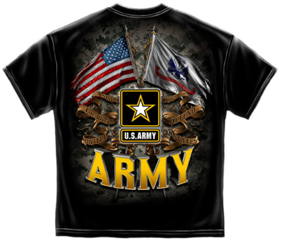 Army 2 Flag T-Shirt - The Wall Kids, Inc.