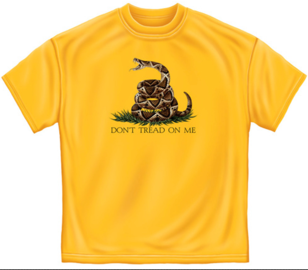 Don't Tread On Me Yellow T-Shirt - The Wall Kids, Inc.