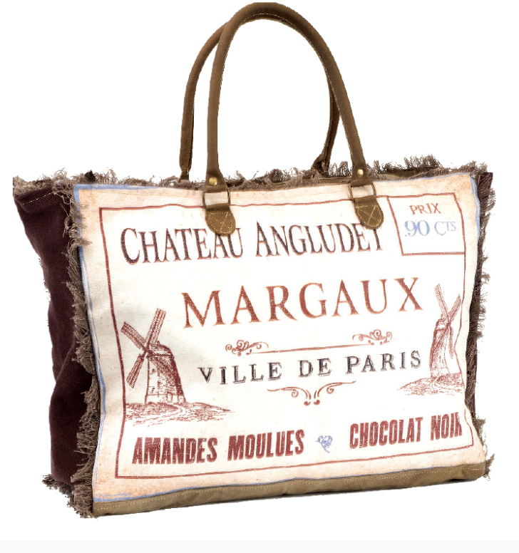 Chateau Angludet Margaux Military Tent Canvas and Leather - The Wall Kids, Inc.