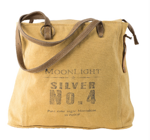 Silver No. 4 Tote MoonLight made from Military Tents - The Wall Kids, Inc.
