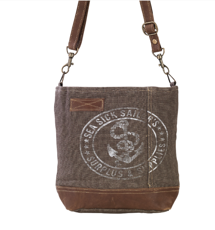 Sea Sick Sailors Shoulder Bag made from Military Tent - The Wall Kids, Inc.