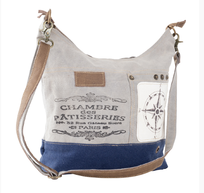 CHAMBRE DES PATISSERIES HOBO BAG made from Military Tents - The Wall Kids, Inc.