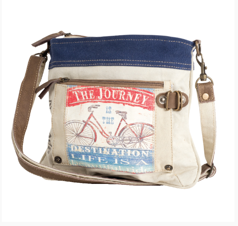 The Journey Crossbody Bag made from Re-Purposed Military Tents - The Wall Kids, Inc.