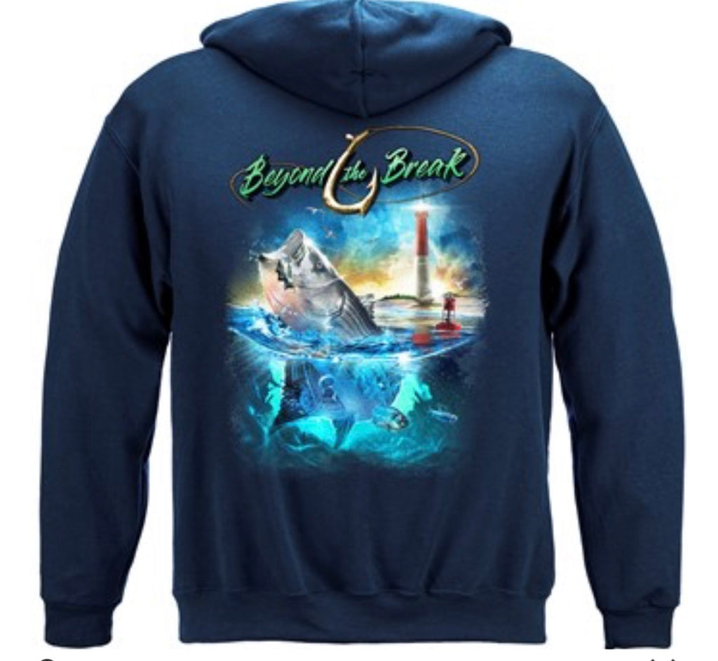 Beyond the break striped bass sweatshirt - The Wall Kids, Inc.