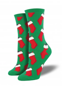 Ladies Christmas Coal Socks