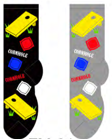 Men's Corn Hole Socks