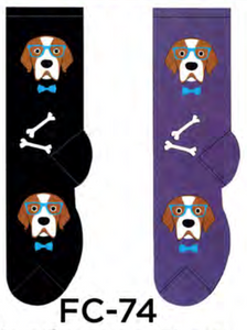 Ladies Professor Dog Socks